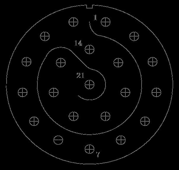 y11 contact arrangement 49 - Y11 Series Circular Connector
