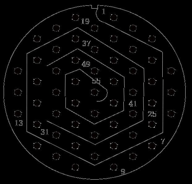 y11 contact arrangement 52 - Y11 Series Circular Connector