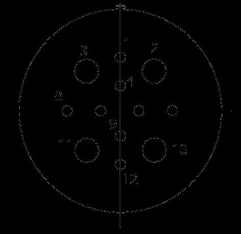 y17 contact arrangement 2012I - Y17 Series Circular Connector