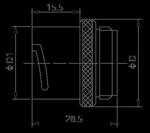 y17 dimension round flange socket - Y17 Series Circular Connector