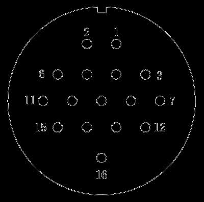 y2 Contact arrangement 16pins - Y2 Series Circular Connector