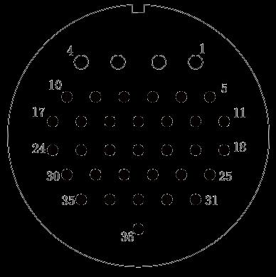 y2 Contact arrangement 36pins - Y2 Series Circular Connector