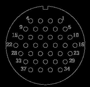y2 Contact arrangement 37pins - Y2 Series Circular Connector