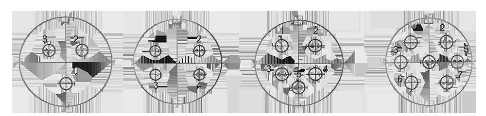 y4 Contact arrangement - Y4 Series Circular Connector