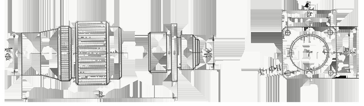 y4 Mechanical drawings - Y4 Series Circular Connector